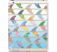 Summer Surfboard fins on a beach with a sea backgorund iPad Case/Skin