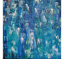 Abstract blue   Photographic Print