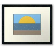 Sun Sea and Sand Framed Print