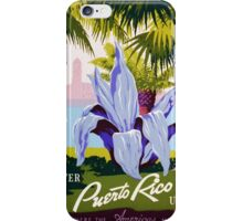 Vintage poster - Puerto Rico iPhone Case/Skin