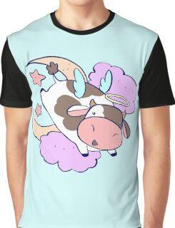 Cute Angel Cow Graphic T-Shirt