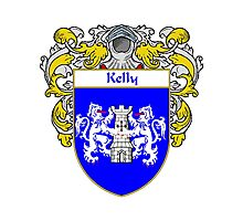 Kelly Coat of Arms/Family Crest Photographic Print