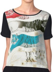 Borges Tigers Chiffon Top