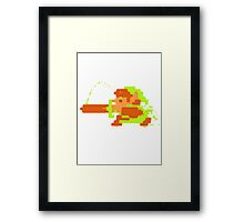 Link in action Framed Print