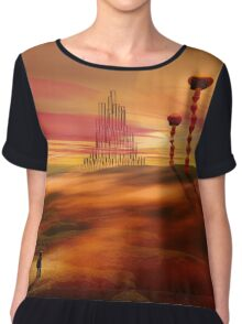 Stranger in an alien landscape Chiffon Top
