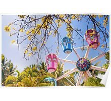 Ferries Wheel in D'Mall, Boracay Island, Philippines Poster