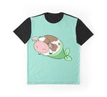 Mermaid Cow Graphic T-Shirt