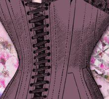 Corsetiere II Vintage elements fashion corset art Sticker