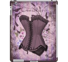 Corsetiere II Vintage elements fashion corset art iPad Case/Skin