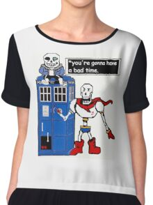 Undertale TARDIS Chiffon Top