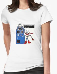 Undertale TARDIS Womens Fitted T-Shirt