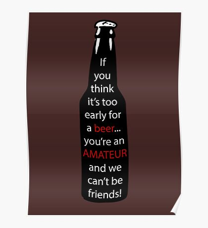 A message in the beer  Poster