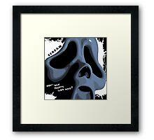 Ghostface Framed Print