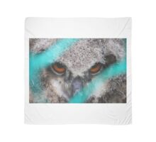 eyes of fire, young bird of prey portrait design Scarf
