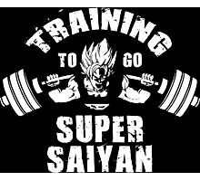 Training To Go Super Saiyan (Squat) Photographic Print