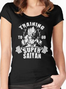 Training To Go Super Saiyan (Goku) Women's Fitted Scoop T-Shirt