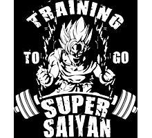 Training To Go Super Saiyan (Goku) Photographic Print