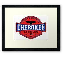 CHEROKEE NORTH CAROLINA SMOKY MOUNTAINS SMOKIES Framed Print