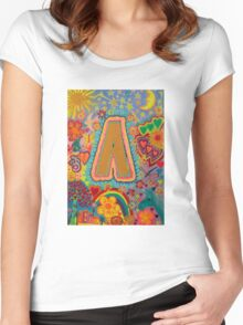 Initial A Women's Fitted Scoop T-Shirt