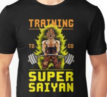 Training To Go Super Saiyan (Goku Deadlift) Unisex T-Shirt