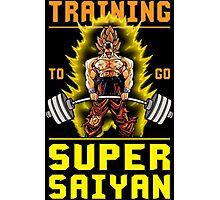 Training To Go Super Saiyan (Goku Deadlift) Photographic Print