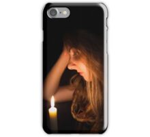 Girl with Candle | Melancholia iPhone Case/Skin