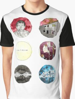 Arctic Monkeys Album Watercolour Doodles Graphic T-Shirt