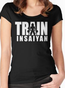 TRAIN INSAIYAN (Deadlift Iconic) Women's Fitted Scoop T-Shirt