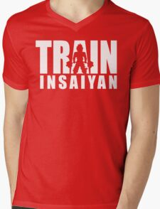 TRAIN INSAIYAN (Deadlift Iconic) Mens V-Neck T-Shirt