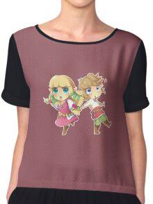 Legend of Zelda Skyward Sword: Chibi Link and Zelda Chiffon Top