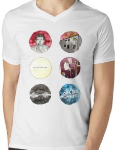 Arctic Monkeys Album Watercolour Doodles Mens V-Neck T-Shirt