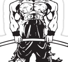 Goku's Gym (Black and Red) Sticker