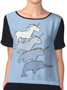 Unicorn Narwhal Evolution Chiffon Top