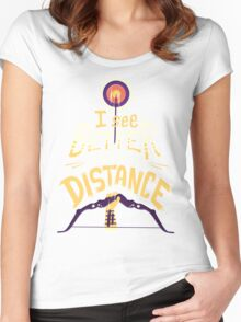 Better from a distance Women's Fitted Scoop T-Shirt