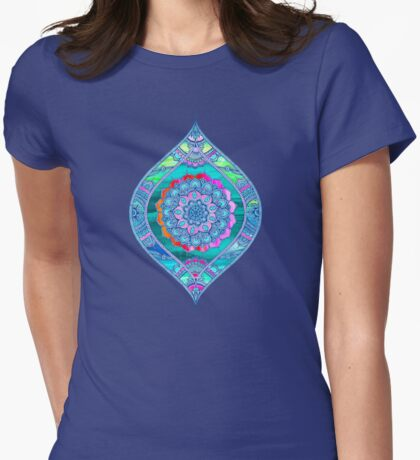 Radiant Boho Color Play Womens Fitted T-Shirt