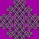 Celtic Knotwork in Purple & Green by Dennis Melling