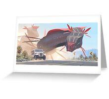Car And Worms, near Amargosa Greeting Card