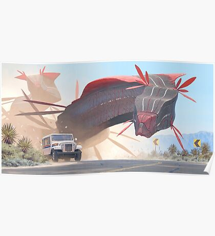 Car And Worms, near Amargosa Poster