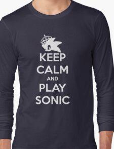 Keep Calm and Play Sonic Long Sleeve T-Shirt