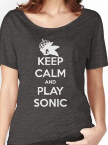 Keep Calm and Play Sonic Women's Relaxed Fit T-Shirt