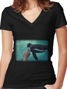 Tickle Women's Fitted V-Neck T-Shirt