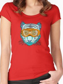 Looking Fierce on the Slopes Women's Fitted Scoop T-Shirt