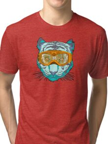 Looking Fierce on the Slopes Tri-blend T-Shirt