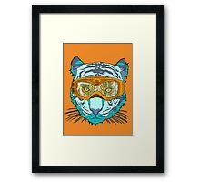 Looking Fierce on the Slopes Framed Print