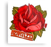 Rose Heartless Metal Print