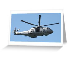 Royal Air Force Merlin Helicopter. Greeting Card