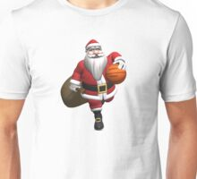 Santa Claus Basketball Player Unisex T-Shirt