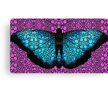 Stone Rock'd Butterfly 2 By Sharon Cummings Canvas Print