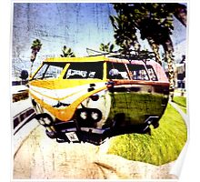 Campervan Surfin' USA Poster