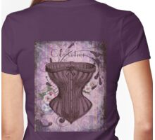 French Vintage lingerie fashion corset art Womens Fitted T-Shirt